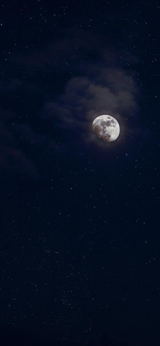 月亮 月球 夜晚 天空