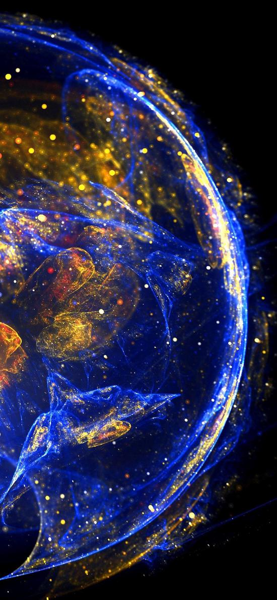 水母 海洋生物 浮游 荧光 炫彩