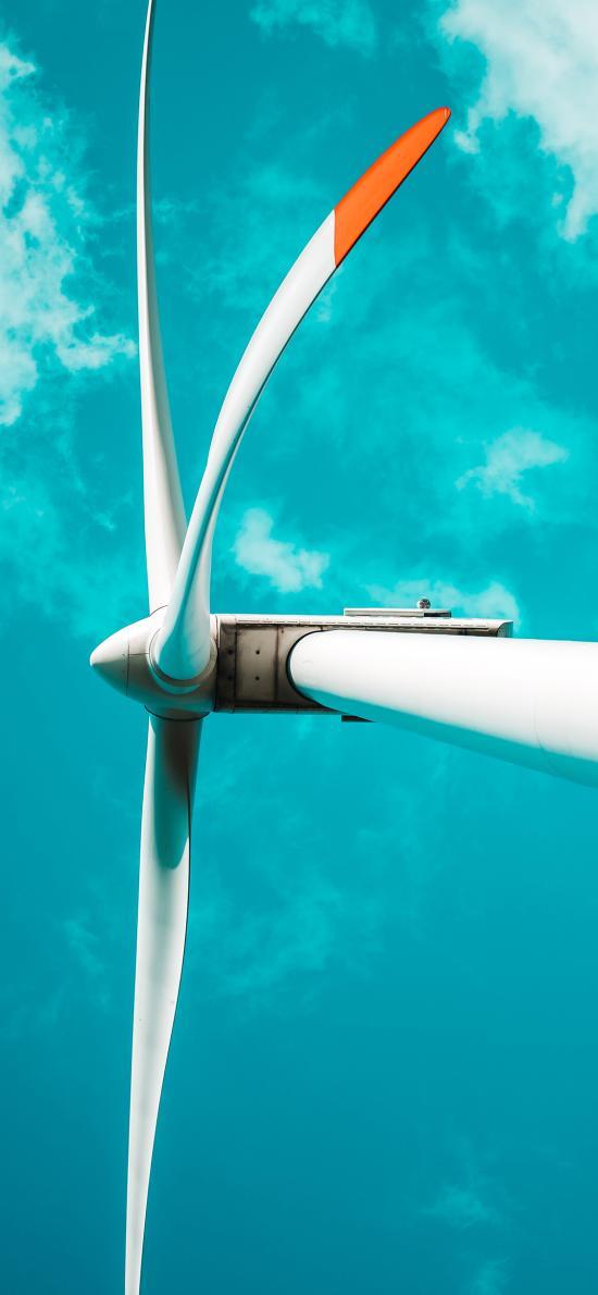 风车 风力发电机 天空 机械