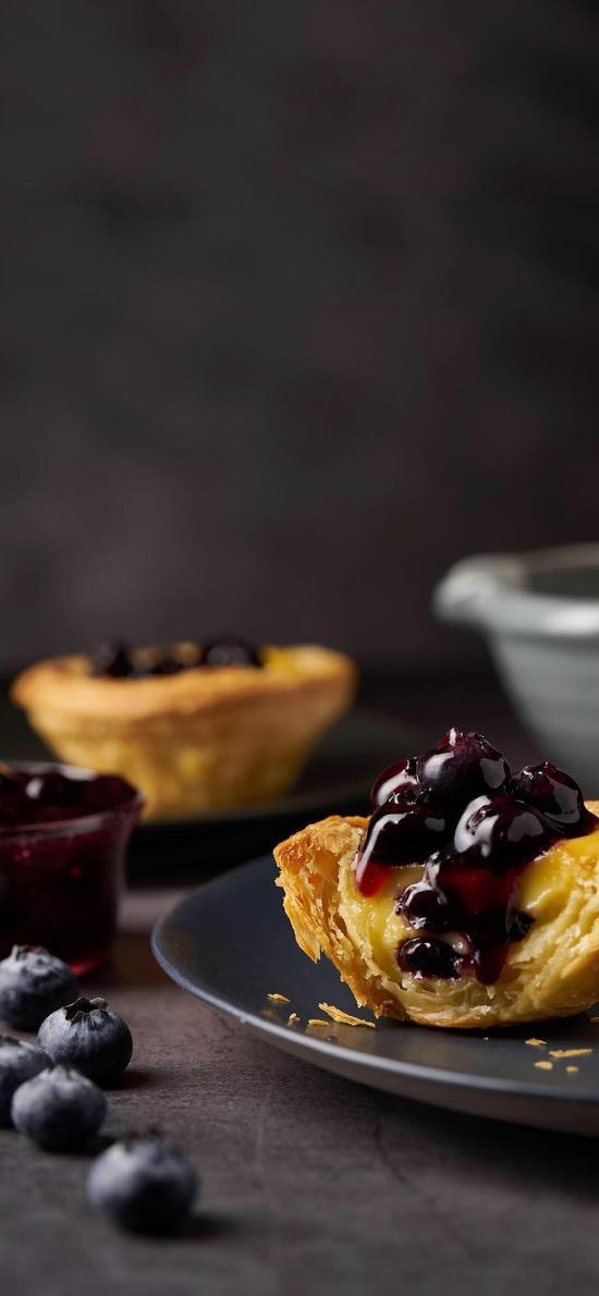 蛋撻 藍莓 果醬 點心