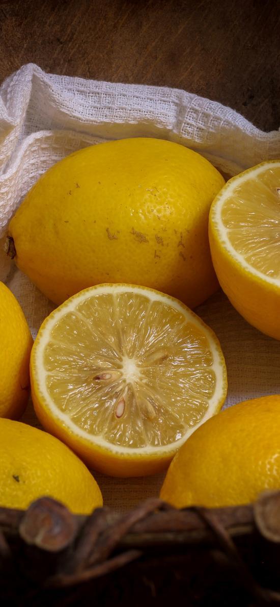 水果 檸檬 新鮮 水果籃