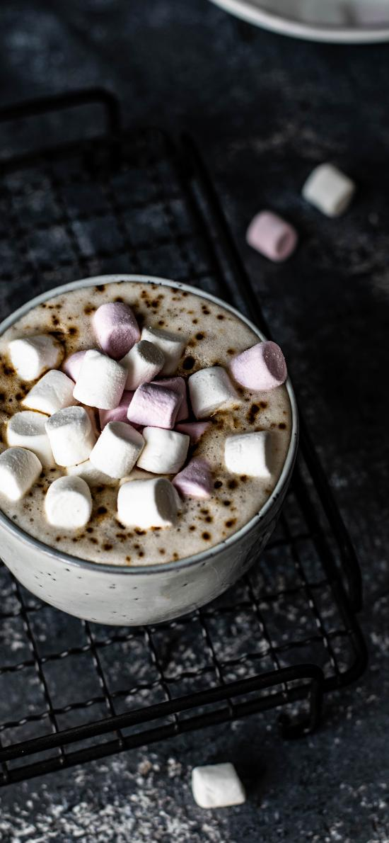 咖啡 棉花糖 顆粒 甜品