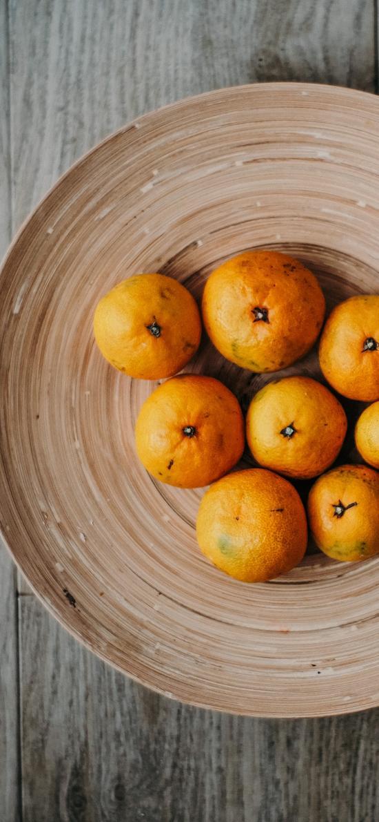 橘子 水果 碟子  柑橘