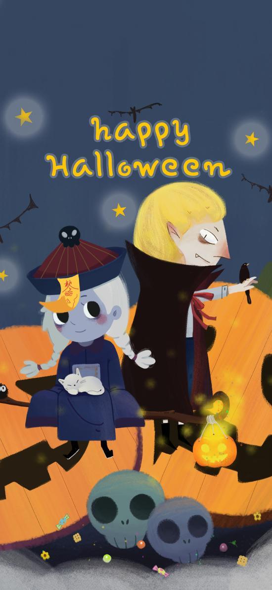 Happy Halloween 萬圣節 僵尸 南瓜(取自站酷網:得得的一碗飯)