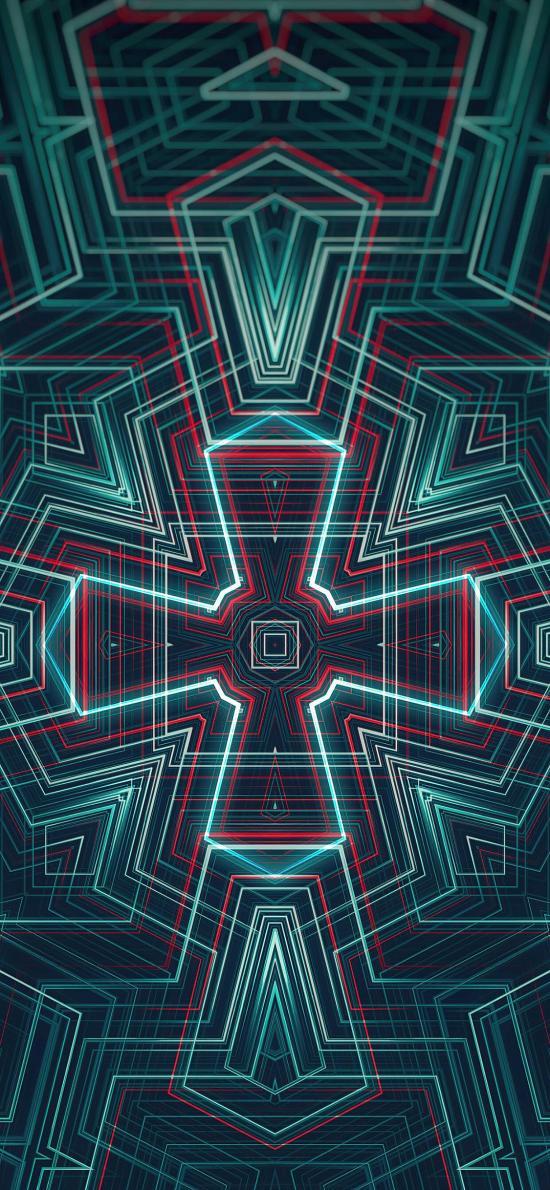 炫彩 線條 科技 幾何