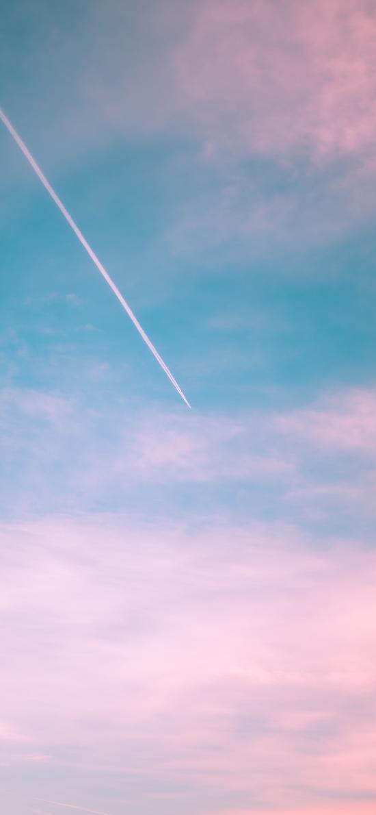 唯美 飞机 云彩 天空