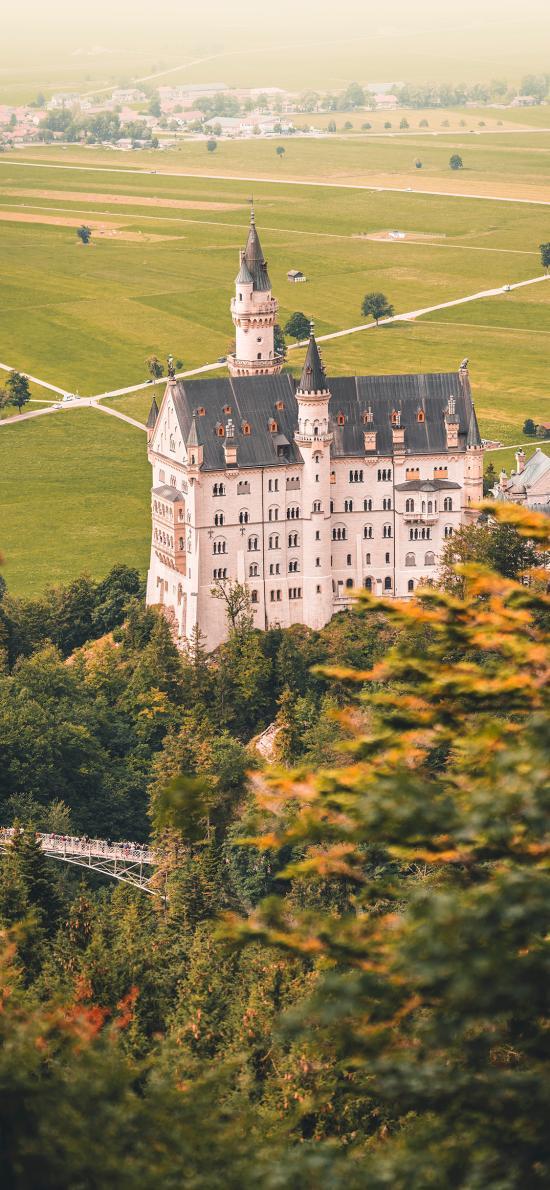城堡 建筑 山莊 樹林