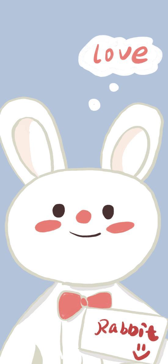 卡通 LOVE rabbit 兔子