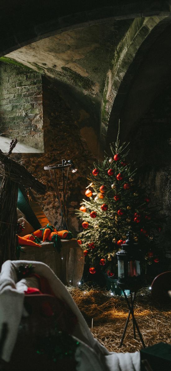室内 圣诞树 圣诞节 装饰