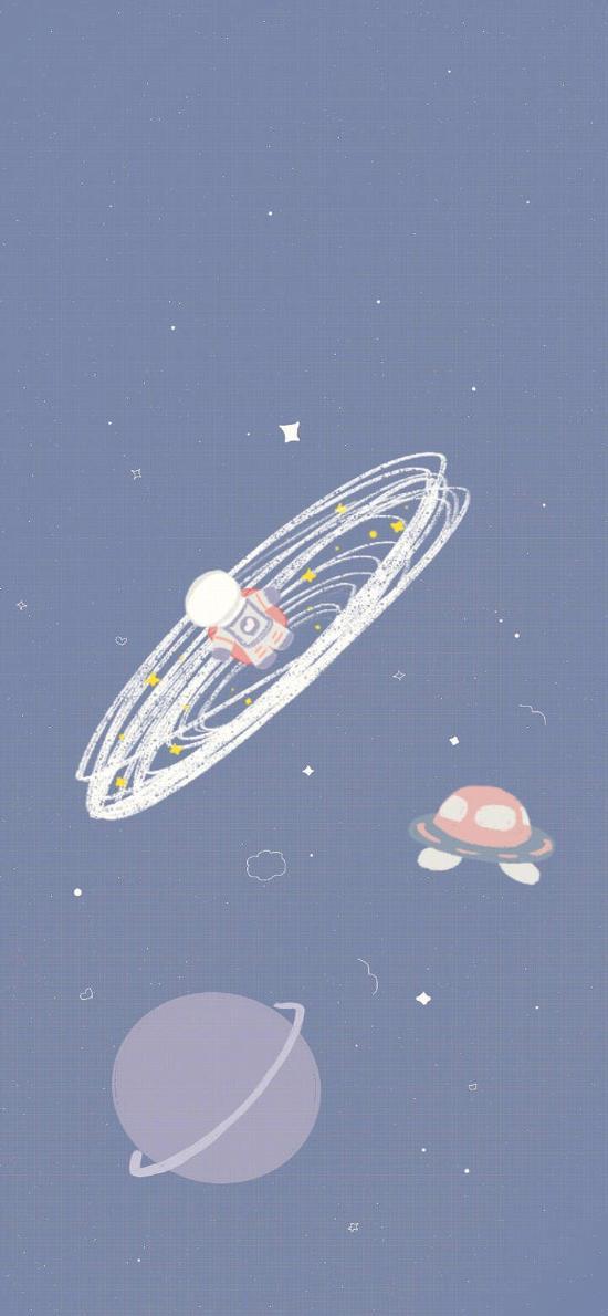 插画 宇宙 航空 星球