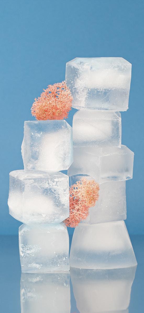 冰塊 結冰 低溫 堆積