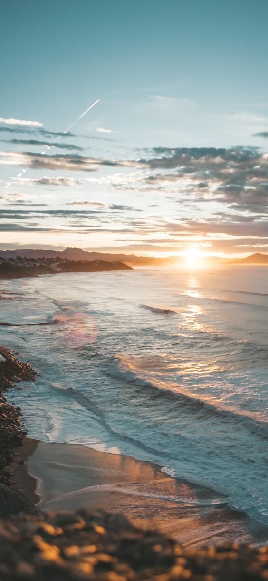 海岸 還阿蘭 海邊 夕陽