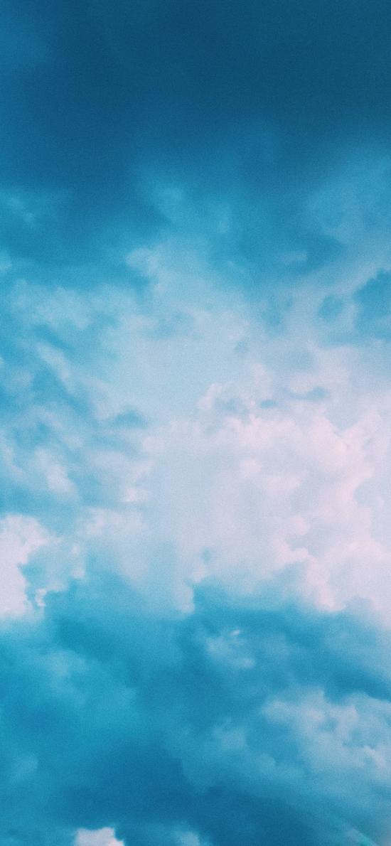天空 蔚蓝 云海 云层