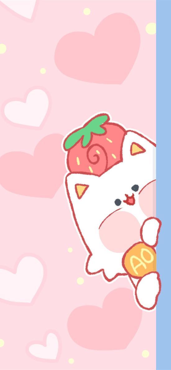 情侣 粉色 爱心 草莓 爱情