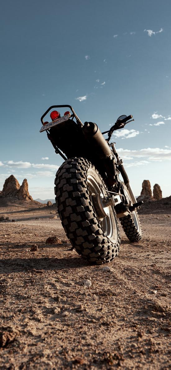 摩托 機車 荒漠 戶外