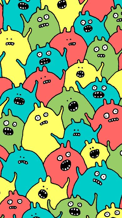 怪物 色彩 牙齿 密集