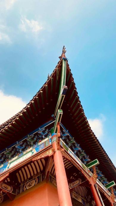 屋檐 建筑 中式 天空