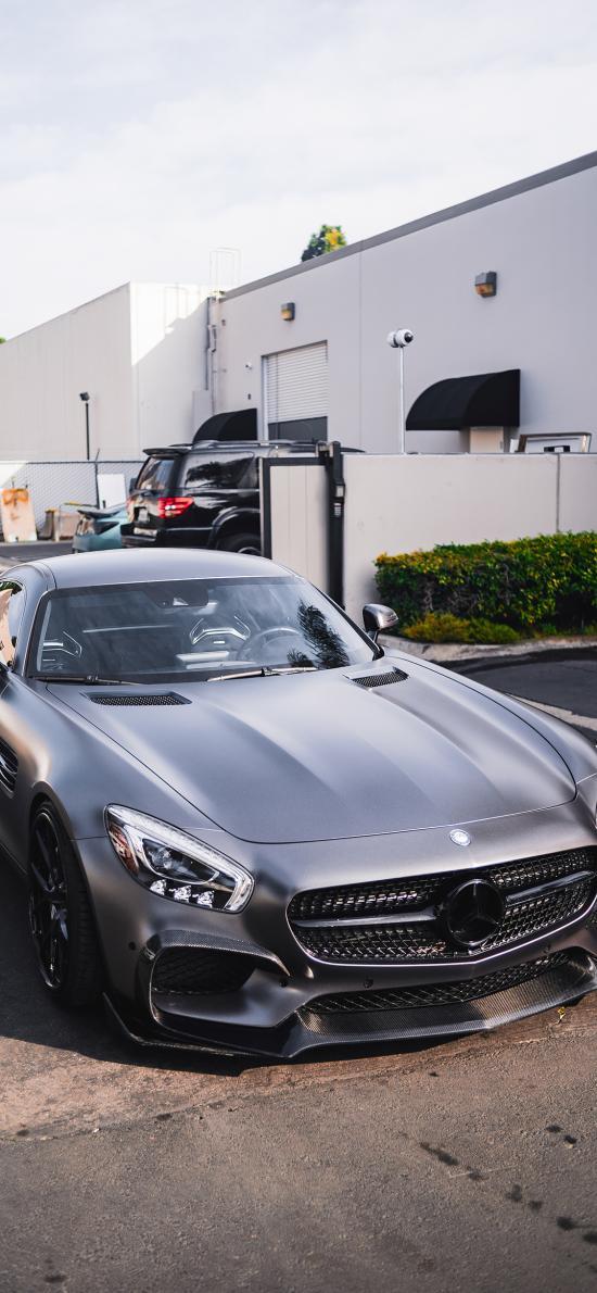 奔馳 超級跑車 炫酷 豪車 銀灰色