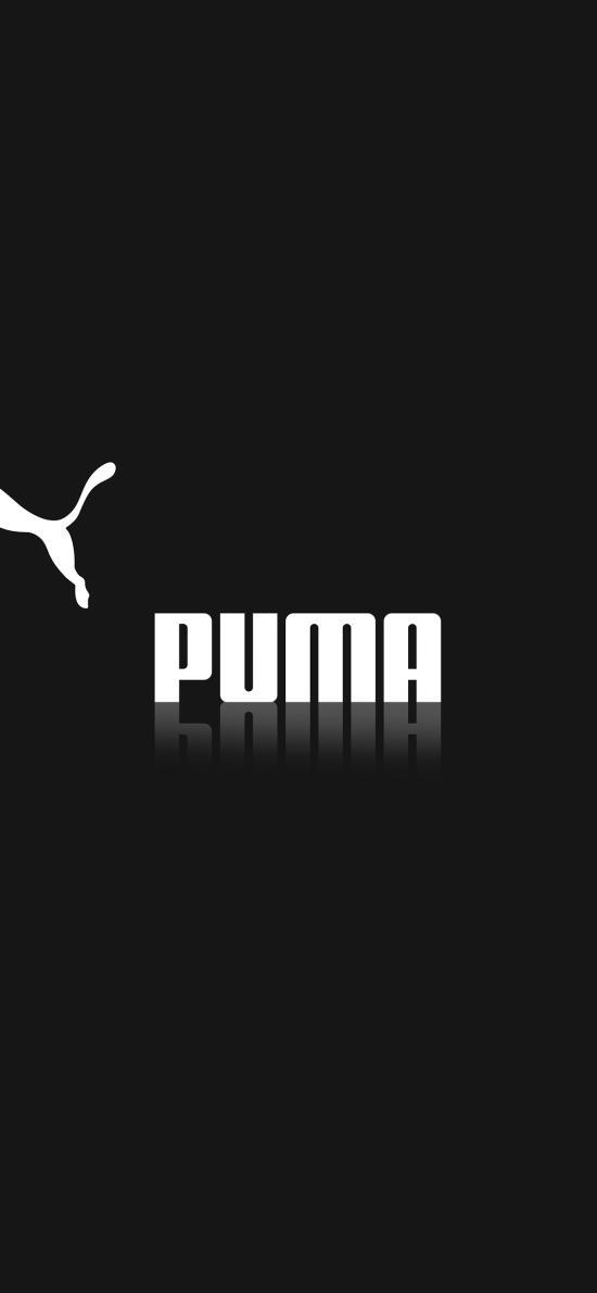 PUMA 隔离 豹 黑白 logo 品牌