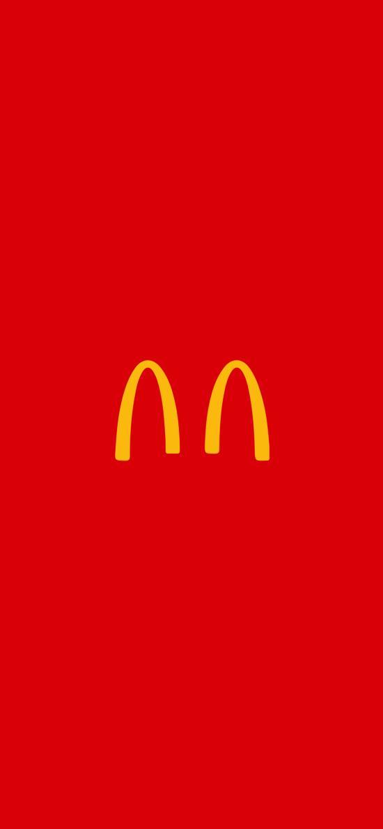 麦当劳 隔离 品牌 logo 红色