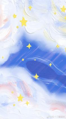 彩繪 星空 云彩 云朵